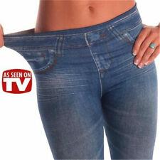US Women Skinny Sexy Jeggings Slimming Leggings Faux Denim Jeans Fashion Pants