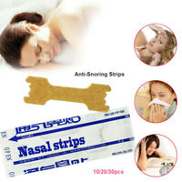 10/20/30x Tiras nasales Anti-ronquido Detener el ronquido Snore Stopper Correas.