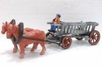 """Bullyland 62209 """"Carretto con 2 cavalli e cocchiere"""" Personaggi del mondo rurale"""