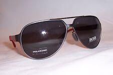 NEW HUGO BOSS Sunglasses 0669/S 32P-3H RUTHENIUM CARBON/SMOKE POLARIZED 669