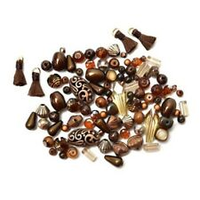 Jesse James Mini Mix Bead Set COFFEE BEAN BEAD MIX 9746 FREE US SHIPPING