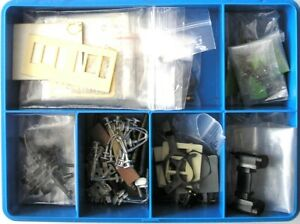 Useful Model Railway Spares Box 4mm Scale OO Gauge Wheels Buffers Couplings etc