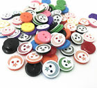 Resin Buttons Star moon pattern Mixed Color Sewing Scrapbooking Handicrafts 13mm