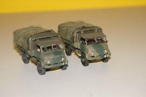 RF30/B13] 2x Roco Minitanks H0 240 Militärfahrzeug Unimog S 404 Mannschaftswagen