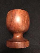 """Vintage Genuine Burma Teak Egg Cup 2 1/2"""" Tall 1 5/8"""" Wide Opening"""