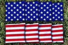 All Weather Resin Cornhole Bean Bags ACA Regulation Stars Stripes Red White Blue