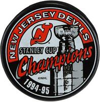 New Jersey Devils Unsigned 1995 Stanley Cup Champs Logo Hockey Puck - Fanatics