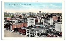 Early 1900s Looking toward 1st Hill, Seattle, Wa Postcard