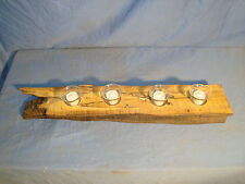 # 6025 wooden rustic spalted curly maple candle holder made in the USA