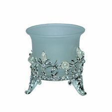 Silver Pearl Tealight Votive Candle Holder Wedding Bomboniere Favor/PVC Box Ribb
