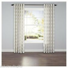 Leaf Print Lined Eyelet Curtains 64 X 72 Cm Lounge Bedroom Dining Decor Drapes