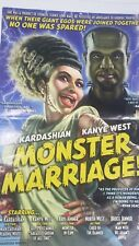Mad Magazine Poster Kim Kardashian & Kanye West in Monster Marriage 2014