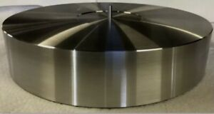 """TURNTABLE PLATTER ALUMINUM 300mm X 76mm WITH ATTACHED SPINDLE 🇺🇸3"""" THICK! USA!"""