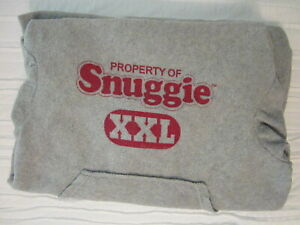 Snuggie XXL Varsity Gray Fleece Blanket With Sleeves Pre-Owned
