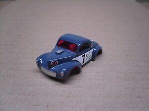 Model Motoring CUSTOM '41 WILLYs GASSER Gloss SLATE BLUE 7 B/GS HO slotcar body