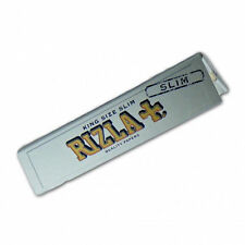 10 BOOKLETS RIZLA SILVER KING SIZE SLIM ROLLING PAPERS
