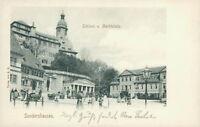 Ansichtskarte Sondershausen Schloss und Marktplatz 1904