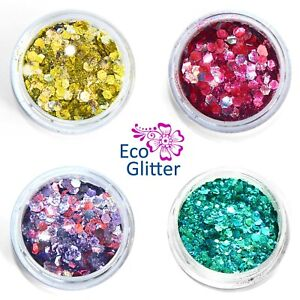 Phat Biodegradable Glitters 4 Chunky Blends Party Bio Eco Tattoos Festival Khf