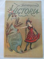 1910 New York NY Program Hammersteins Victoria Theater Vaudeville Playbill