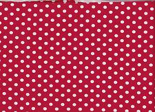 ☻ Stoff BW Jersey Kinderstoff rot/weiss gepunktet ☻