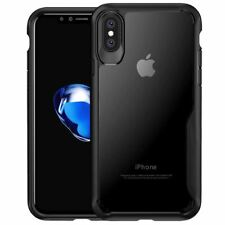 Thin Shockproof Case For Apple iPhone X 8 7 Plus 6s Clear Hard Bumper Tpu Cover