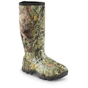 New 17 in Men's Wood Creek Insulated Hunting Rubber Boots, 1,000 G Mossy Oak