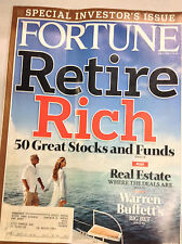 Fortune Magazine Retire Rich 50 Great Stocks June 23, 2008 062017nonr