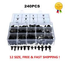 240 pcs Plastic Rivets Fastener Fender Bumper Push Screw Pin Clips Kit 12 Size
