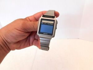VINTAGE 1980s ANTIQUE OLD SEIKO JAMES BOND WRIST WATCH WITH TELEVISION SCREEN !!