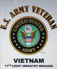 VIETNAM 11TH LIGHT INFANTRY BRIGADE*  U.S. ARMY VETERAN*ARMY EMBLEM SHIRT