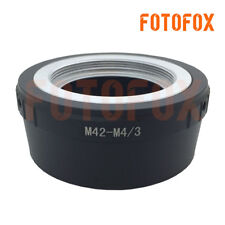 M42-M4/3 Adapter for M42 Screw Mount Lens to Micro Four Thirds M43 MFT GH4 OM-D