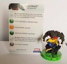 Heroclix Incredible Hulk set Wolverage #051 Chase figure with card