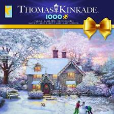 CEACO THOMAS KINKADE CHRISTMAS AT GINGERBREAD COTTAGE 1000 PCS #3328-43