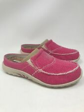 Skechers Womens Slip On US Size 8 Pink Canvas Relaxed Fit Memory Foam