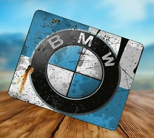 BMW Rusty Oil Can splattered Advert Mouse Mat Mouse Pad Gift Idea! Car
