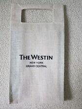 The Westin New York Grand Central Wine 2 Bottle Beige Burlap Bag NEW