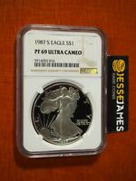 1987 S PROOF SILVER EAGLE NGC PF69 ULTRA CAMEO BROWN LABEL ...SEE MY OTHERS!
