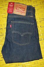 New Levis 510 Skinny Jeans Bleu 27 W 32 L Bnwt