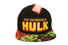62e5967fa2014 THE INCREDIBLE HULK BLACK SNAPBACK HIP HOP HAT CAP .. NEW