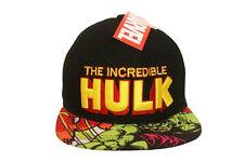 THE INCREDIBLE HULK BLACK SNAPBACK HIP HOP HAT CAP .. NEW