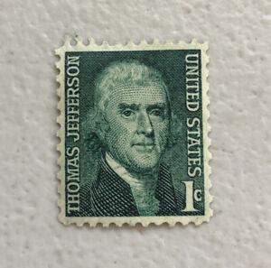 US STAMP 1 CENT Green THOMAS JEFFERSON MNH  - 1968