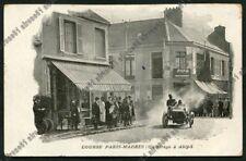 COURSE AUTOMOBILE 01 CAR RACING PARIS - MADRID - ABLY Cartolina Postcard CPA