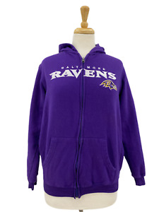 NFL Football Youth Baltimore Ravens Navy Blue Full Zip Up Hoodie Sweatshirt XL