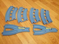 TOMY Trackmaster Thomas + Friends Blue Double Track Bundle CURVES AND JUNCTIONS