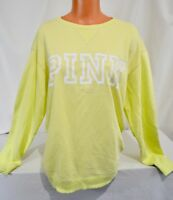 Victorias Secret Pink GRAPHIC Campus  Crew Sweatshirt NWT M