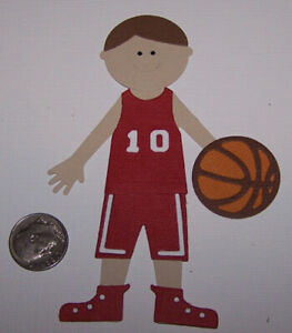 1 Basketball Player PAPER Die Cuts  / Scrapbook & Card Making
