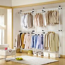 Large-size Garment Rack Clothes Storage Closet Hanging Organizer Shelving Stand