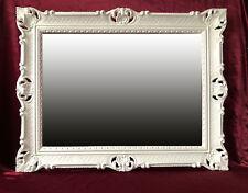 Espejo Barroco de Pared Blanco Antiguo ROCOCO 90x70 cm decoración Repro 2017