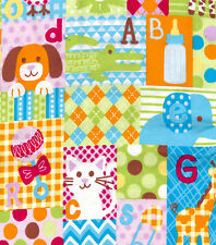 Baby Big Patchwork Snuggle Cotton Flannel Fabric - BTY -