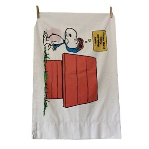 VINTAGE 1971 Snoopy Peanuts Std Pillowcase Red Baron Curse These Early Mornings